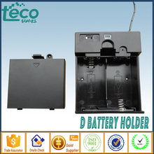 2 D Battery holder  Plastic Storage Box Wired TBH-D-2G