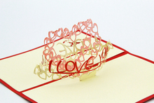 show your love /3D kirigami card/ handmade greeting cards gift for men Free shipping(China)