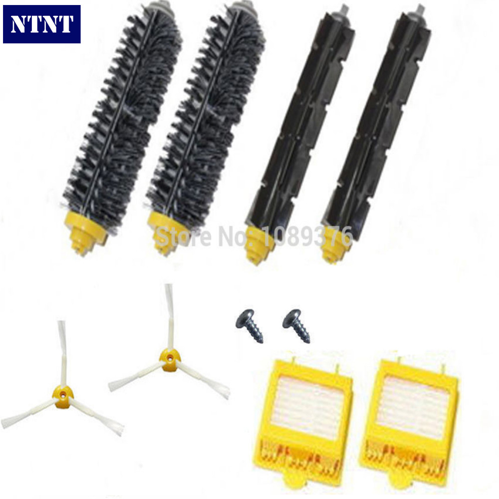 NTNT Free Post New Brush &amp; Filters &amp; 3 armed Side brush &amp; Screws for iRobot Roomba 700 770 760 780<br>