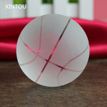 XINTOU Crystal Glass Basketball Ball Model Miniature ornaments Handmade 6cm Feng shui Sphere Home Decor Student Kids Craft gifts(China)