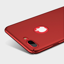 KISSCASE Hard Red Matte PC Case for iPhone 7 7 Plus Case 6 6s Plus Luxury Extreme Touch Thin Plastic Cases for iPhone 7 7 Plus