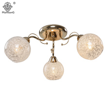 Classical Flower Ceiling Lamp Bedroom E14 Modern Ceiling Lights for Living Room Home Lighting Luminaire Iron Glass Ceiling Lamps(China)