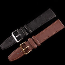 New ultra-thin Black Brown watchband genuine leather watch band 8mm 10mm 12mm 14mm 18mm 20mm 22mm high quality watch strap