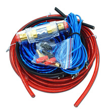 Car Audio Wire Wiring Amplifier Subwoofer Speaker Installation Kit 8GA Power Cable 60 AMP Fuse Holder(China)