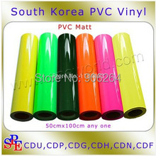 Gift and Low Price PVC Heat Trasnfer Vinyl DIY T-shirt Transfer Film PVC Flouscent Color High Quality