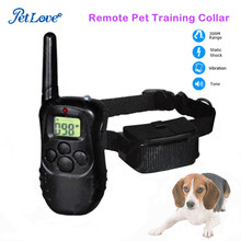 300M LCD Remote Control Dog Training collar System 100LV Shock + Vibra Remote Electric PET Training Collar(China)