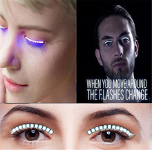 1 Pair Light Belt New Halloween Icon Saloon Pub Club Bar Party LED Strips 3d Led Lashes Eye Makeup Extension
