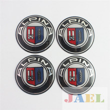 4PCs For ALPINA 65mm Wheel Center Hub Caps Case for ALPINA Emblem Sticker