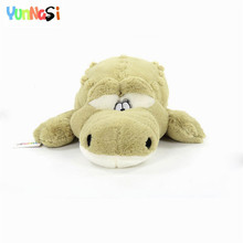 YunNasi Giant Crocodile Pillow 110cm Plush Toys Stuffed Dolls Alligator Kids Toys Valentine's Day Gifts Girlfriends Soft Cushion(China)