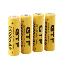 High capacitance 4 pcs/set 14500 battery 3.7V 2500mAh rechargeable liion battery for Led flashlight batery litio battery Newest
