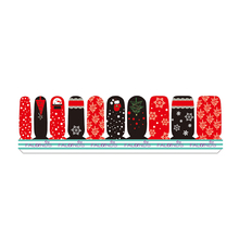 1 Set = Nail Patch+Nail File + Remover Pad Christmas Nail Art of Water Transfer Full Nail Sticker Nail Decorations for Manicure