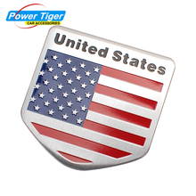 3D Aluminum Universal United States American USA Flag Car Sticker National Badge Emblem For Ford Chrysler Jeep Dodge Buick VW