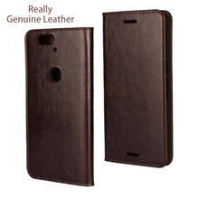 Genuine Leather Case For Huawei Nexus 6P Cases Filp Wallet Back Cover case for Google Nexus 6P Mobile Phone Cases fundas shell(China)