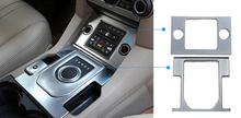 For Land Rover LR4 Discovery 4 2014 2015 ABS Accessories Interior Gear Shift + Cigarette Lighter Panel Cover Trim 2pcs/set(China)