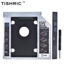 "TISHRIC 2017 New For CD ODD Notebook Universal Aluminum 2nd HDD Caddy 12.7mm SATA 3.0 For 2.5"" DVD Box Case Enclosure Optibay(China)"