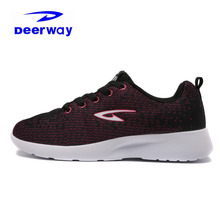Deerway Stylish Running Shoes For Women 2017 Brand Sneakers Women Sport Shoes Purple Jogging Winter Sneakers For Women Outdoor(China)