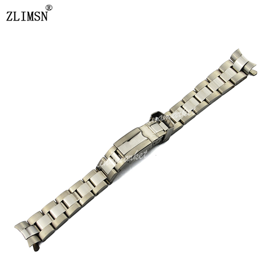 ZLIMSN 17mm  NEW Silver / Gold / Rolse Solid Watchbands Stainless Steel Watch Bands Bracelets Curved End Used For Rol ROL103<br><br>Aliexpress
