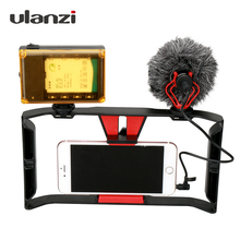 Ulanzi Handheld Video Rig Stabilizer for Live streaming / Vlogger/ Youtube with 96 Led Video Light & Rode VideoMicro microphone(China)