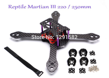 Newest Carbon fiber Reptile Martian III 190mm / 220mm / 250mm 4-Axis Quadcopter Frame 3.5mm Arm + Distribution board for FPV(China)