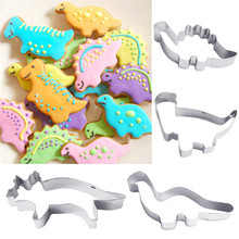 4PCS Stainless Steel Dinosaur Animal  Biscuit Fondant Cake Cookie  Cutter Decorating Mold Mould Pastry Baking Tools