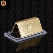 999 Gold One Troy Ounce Atlantis Mint 24k Pure Gold Bullion Bar with Free Capsule