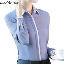 Buy Plus size women clothing long sleeve blouses slim elegant chiffon shirt tops formal office ladies blusa feminina for $12.07 in AliExpress store