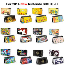 1pcs pokemon pikachu xy x y zelda poke ball Tokyo Ghoul Game Console Protective Hard Case Cover FIGURE For 2014 New 3DS XL LL(China)