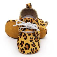 Toddler Leopard Baby Girl Shoes Leather Zebra Striped Boy Shoes Soft Soled Infant Kids Shoes First Walker(China)