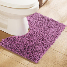 Cheap 40*50CM U Shape Bathroom Mats Set Toilet Pattern Bath Non-slip Floor Carpet Mattress for Bathroom Decor Non-slip Bath Mats