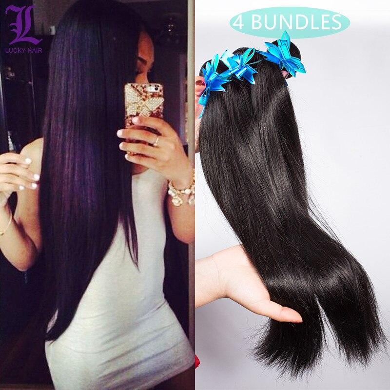 4 Bundles/lot Peruvian Virgin hair Straight Rosa Hair Products Virgin Peruvian Hair Bundles 6A Unprocessed 100% Human Hair Weave<br><br>Aliexpress