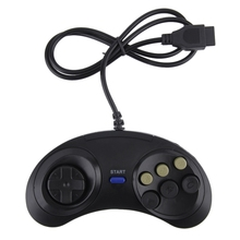 Hot Selling! Six Buttoms Gaming Game handle controller Command Pad gamepad Plastic Accessories For Sega Megadrive drop Shipping(China)