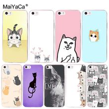 Buy MaiYaCa Cat Cute Cartoon New Personalized print Phone Accessories Case Apple iPhone 8 7 6 6S Plus X 5 5S SE 5C 4 4S Cover for $1.29 in AliExpress store