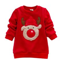 Christmas Gift Children Kids Autumn/Winter Baby Boys Girls Long Sleeve Knitted Sweaters Casual Cartoon Elk Pattern Tops 0-3Y(China)