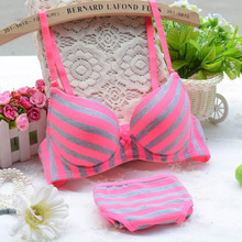 Buy Sexy Women Lingerie Girl New Light Stripes Bamboo Carbon Fiber Underwear Push Bra Sets Women Intimates S3
