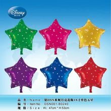 50pcs/lot star foil balloon printed minnie head moon helium balloon birthday party supplier wedding mylar decoration