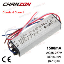 Constant Current LED Driver 1500mA 18-39V 30W 40W 50W 60W AC85-265V IP67 Waterproof Lamp Light Power Supply Lighting Transformer