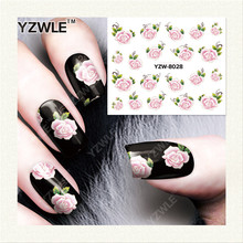 YZWLE 1 Sheet DIY Decals Nails Art Water Transfer Printing Stickers Accessories For Manicure Salon YZW-8028(China)