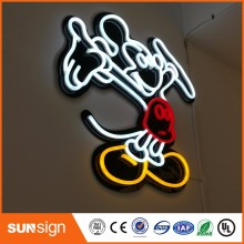 "aliexpress customized signs ""Mickey Mouse"" shape vintage neon sign(China)"