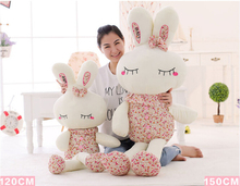 100-120cm Large Cute Rabbit Baby Soft Plush Toys Brinquedos Plush Rabbit Stuffed Toys Princess Wedding Rabbit Shed Kids Pillow