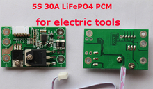 5S 30A LiFePO4 BMS/PCM/PCB battery protection circuit board for 5 Packs 18650 Battery Cell(China)