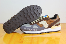 Free Shipping Saucony Shadow 24 Kilates Women's Shoes,New Colors Saucony 24 Kilates Grey/Brown SAUCONY Hiking Shoes(China)