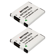 NB-11L / NB-11LH Ultra High Capacity  900mAh Battery  for Canon PowerShot Cameras (2 pack)