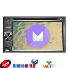 Android 6.0 Double Din Car DVD Player Quad Core 6.2'' HD Touch Screen Car Stereo GPS Navigator tape recorder WiFi swc Mirrorlink