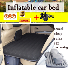 12V Pump +Inflatable Mattress Car Back Seat Cover Air Mattress Travel Bed Portable Inflatable Camping Pad car sex bed flocking(China)