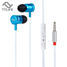 TTLIFE Wired Sports Earphones 810 HiFi Stereo Headphone Music In-ear Original Headset With Mic for Android Phone Xiaomi Mp3(China)