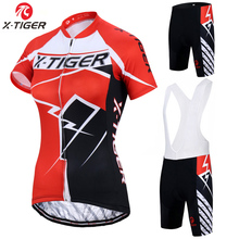 X-Tiger Caitlin Summer Breathable Women Mountian Bike Clothing Quick-Dry Bicycle Clothes Ropa Ciclismo Girls Cycling Jersey Set(China)