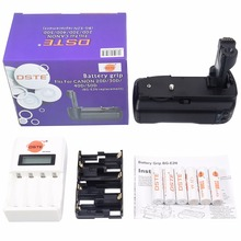DSTE BG-E2N Battery Grip with 6x Rechargeable Batteries AA NI-MH Battery and Charger for Canon EOS 20D 30D 40D 50D C40DA Camera(China)