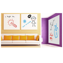 Wallpaper DIY Waterproof Doodle Wall Paper Decal Removable Sticker with 3 Markers White Board 45 * 200cm(China)
