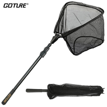 Goture Aluminum Folding Fishing Net Landing Net With Extending Telescoping Pole Multifilament Hand Network for Fishing(China)