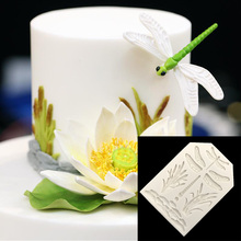 1PC Dragonfly plant Silicone Molds Chocolate Mold DIY Handmade Cake Chocolate Making Tool Cake Decorating Tools Molds D005(China)
